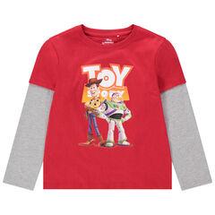 T-shirt manches longues en coton bio effet 2 en 1 print Toy Story