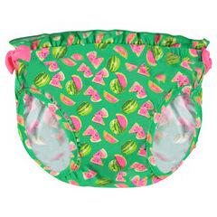 Culotte de bain avec pastèques imprimées all-over