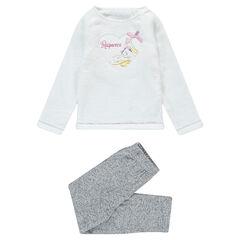 Pyjama met bovenstuk van sherpastof en patch van Rapunzel