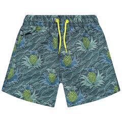 Short de bain à motifs tropicaux