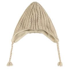 Peruviaanse hoed in breiwerk met warme voering in microfleece
