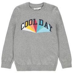 Pull en tricot à message printé