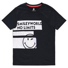 Junior - T-shirt met korte mouwen van jerseystof en stroken met ©Smiley prints
