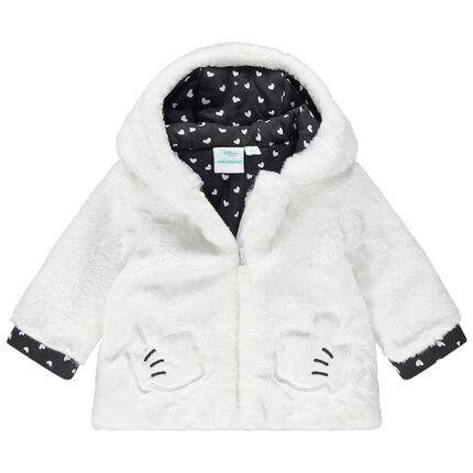 Veste en sherpa doublée jersey Minnie Disney