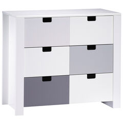 Commode 3 tiroirs - City Gris