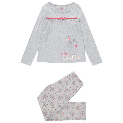 Pyjama en jersey avec lapine Bambi Disney printée