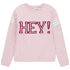 Junior - Sweat en molleton avec message en sequins magiques