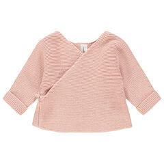 Gilet en tricot rose coton bio , Orchestra
