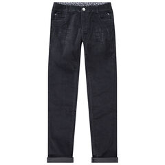 Junior - Pantalon slim en velours uni à poches