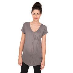Tee-shirt manches courtes de grossesse avec lettrage brodé