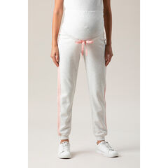 Pantalon de jogging de grosses en molleton à bandes roses