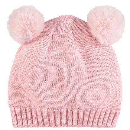 Bonnet en tricot avec pompoms