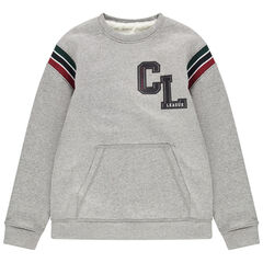 Junior - Sweat en molleton doublée sherpa