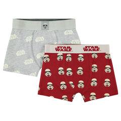 Lot de 2 boxers assortis motif Star Wars™ / Stormtrooper all-over