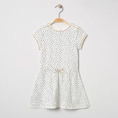 Robe manches courtes en coton bio imprimée all-over