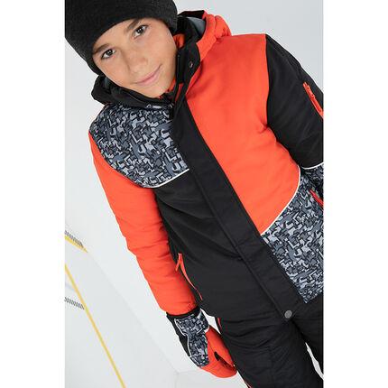 Junior - Ski-jas met grafische prints en zakken met ritssluiting