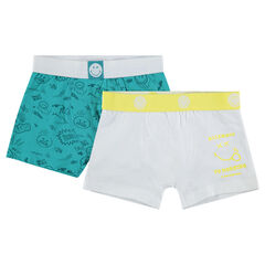 Set met 2 katoenen boxershorten met ©Smiley-prints