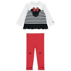Jogging aec sweat volanté Minnie Disney et legging rouge , Orchestra