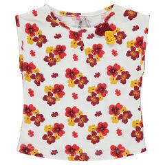T-shirt met korte mouwen en met bloemenprint