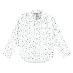 Chemise manches longues en coton avec skeurs printés all-over