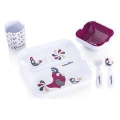 Lunch set 5 stukken- Lovely Bird