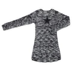Junior - Robe manches longues en tricot mélangé avec étoile patchée