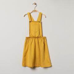 Robe salopette à poche jaune