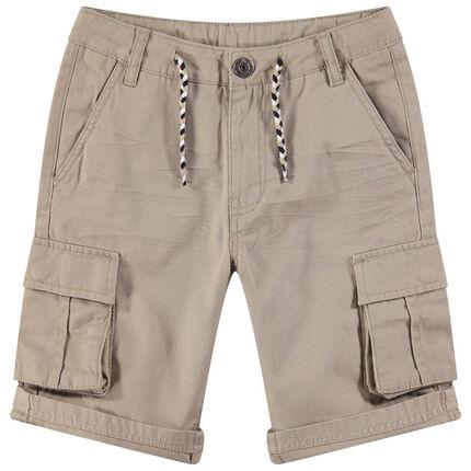 Junior - Bermuda en coton fantaisie à poches esprit cargo