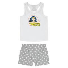 Junior - Korte pyjama van jerseystof met print van Wonder Woman ©Warner