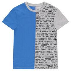 Junior - Tee-shirt en jersey manches courtes bicolore