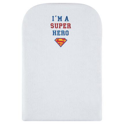 Overtrek voor verschoonkussen van badstof van Superman JUSTICE LEAGUE - CHIBI