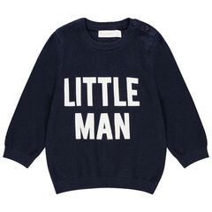 Pull en tricot à message contrasté pour bébé garçon , Orchestra