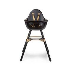 Chaise haute évolutive 2 en 1 Evolu 2 + arceau - Noir/or