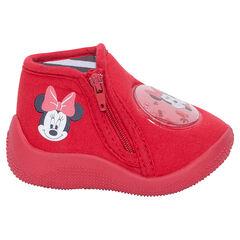 Pantoffellaarsjes met ritssluiting en patch van Disney's Minnie