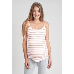 Débardeur de grossesse homewear à rayures