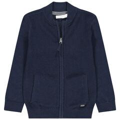 Gilet en tricot zippé à poches