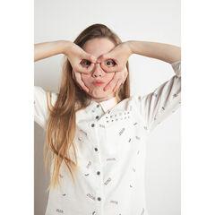 Junior - Hemd met lange mouwen met fantasiemotieven en zak
