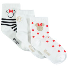 Lot de 3 paires de chaussettes motif Minnie Disney