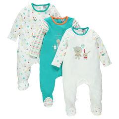 Set van 3 pyjama's uit jerseystof