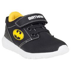 Baskets basses à lacets élastiqués et scratch DC Comics logo Batman