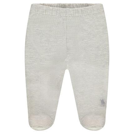 Pantalon en jersey à pieds fermés et logo printé