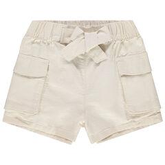 Short en twill à poches