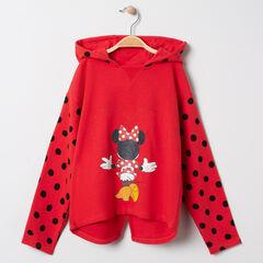 Sweat à capuche à pois print Minnie Disney