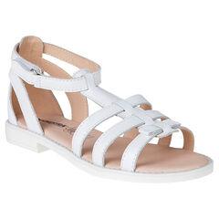 Open schoenen in leder Romeinse sandalen
