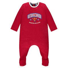 Dors-bien en jersey avec inscriptions et logo brodés SUPERBABY