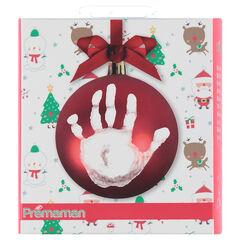 Kerstballenset met handafdrukmateriaal