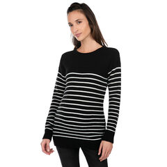 Zwangerschapstrui in marinièrestijl van tricot.