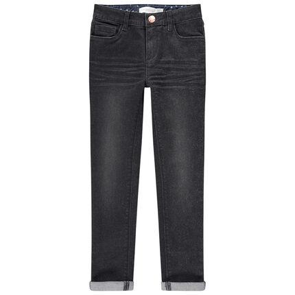Junior - Skinny jeans met used en crinkle effect