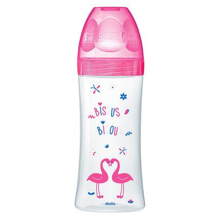 Babyflessen Sensation+ 330 ml +6M - Fushia Zwanen
