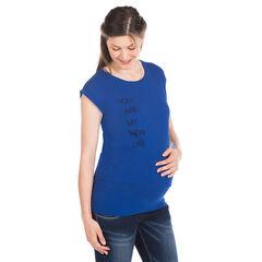 Tuniek korte mouwen voor tijdens de zwangerschap in effen kleur